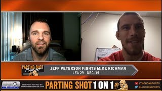 Alliance MMA standout Jeff Peterson plans to go to war against Mike Richman at LFA 29