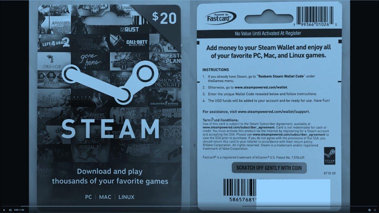 How to Redeem STEAM Wallet Gift Card Code / Steam Instant Digital Code?