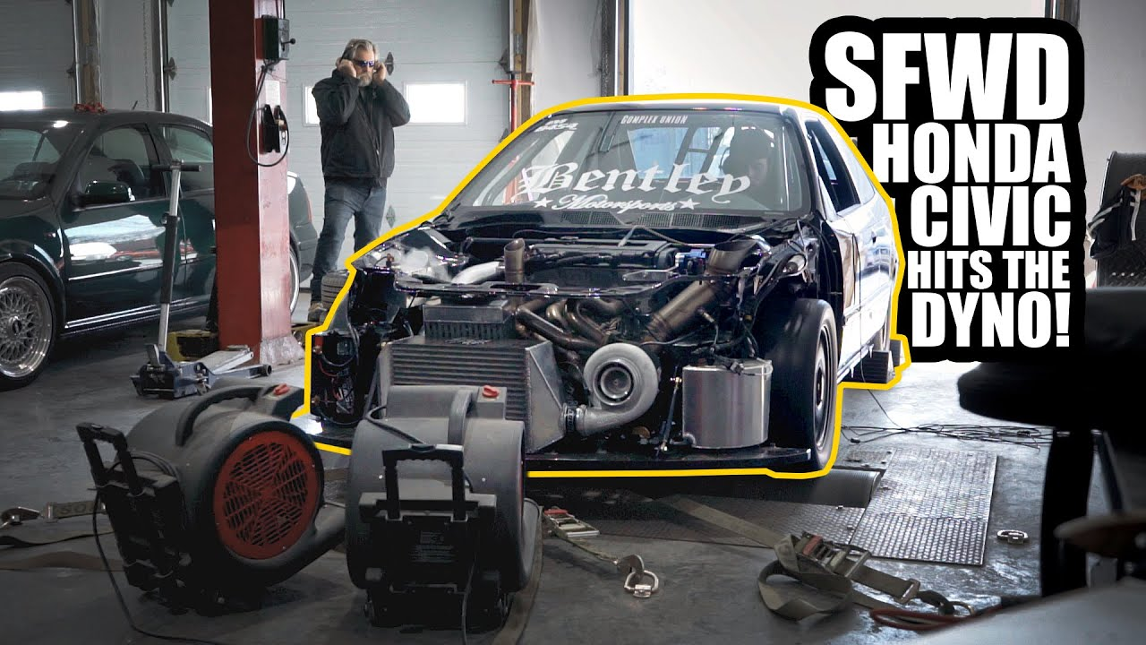 Sport Front Wheel Drive Honda Civic with Precision 6785 on the dyno