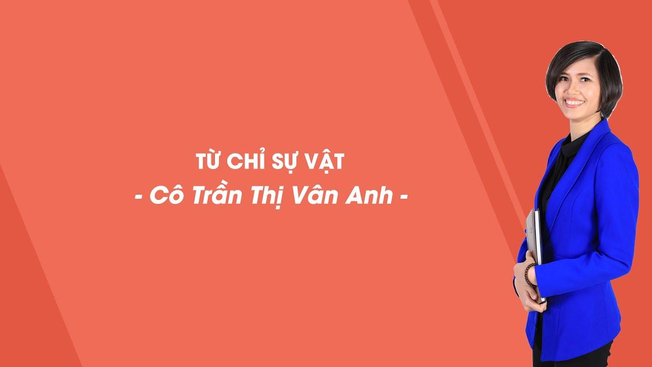 Từ chỉ sự vật phần 2 - Tiếng Việt 3 - Cô Trần Thị Vân Anh - HOCMAI