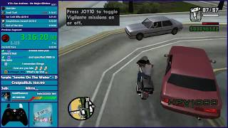 GTA San Andreas No Major Glitches (Dupeless) Speedrun Practice - Hugo_One Twitch Stream - 2/15/2018