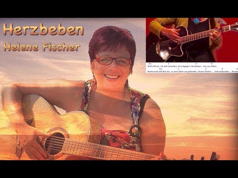 Herzbeben-Helene Fischer /Gitarre/guitar/Tutorial/Cover/Akkorde/chords/Text/Lyrics/ easy Version