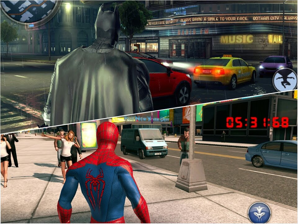 Android Gameplay : The Amazing Spiderman 2 vs The Dark Knight ...
