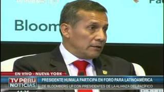 Presidente Humala: La Alianza del Pacífico no es un bloque político