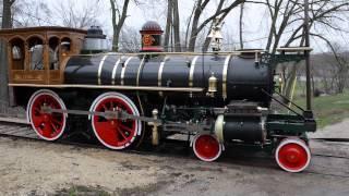 york 17 steam locomotive unload april 15 2013