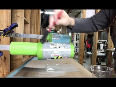 Glitter Tumbler Series: Episode 4: Sanding, Decal Application, and Second Layer of Epoxy