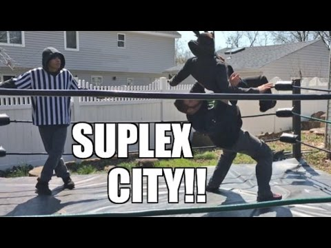 FAT MAN TAKES RAGING MANIAC TO SUPLEX CITY INSANE WRESTLING MATCH