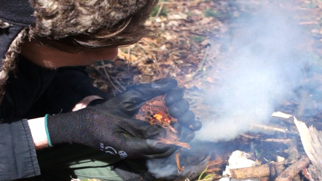 how to make fire with flint
