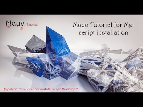 Maya Tutorial for Mel script installation
