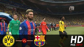 Borussia dortmund vs fc barcelona | all goals & highlights extended pes 2017 gameplay ucl round of 16. ►thank you for watching! ☛ if enjoy, please li...