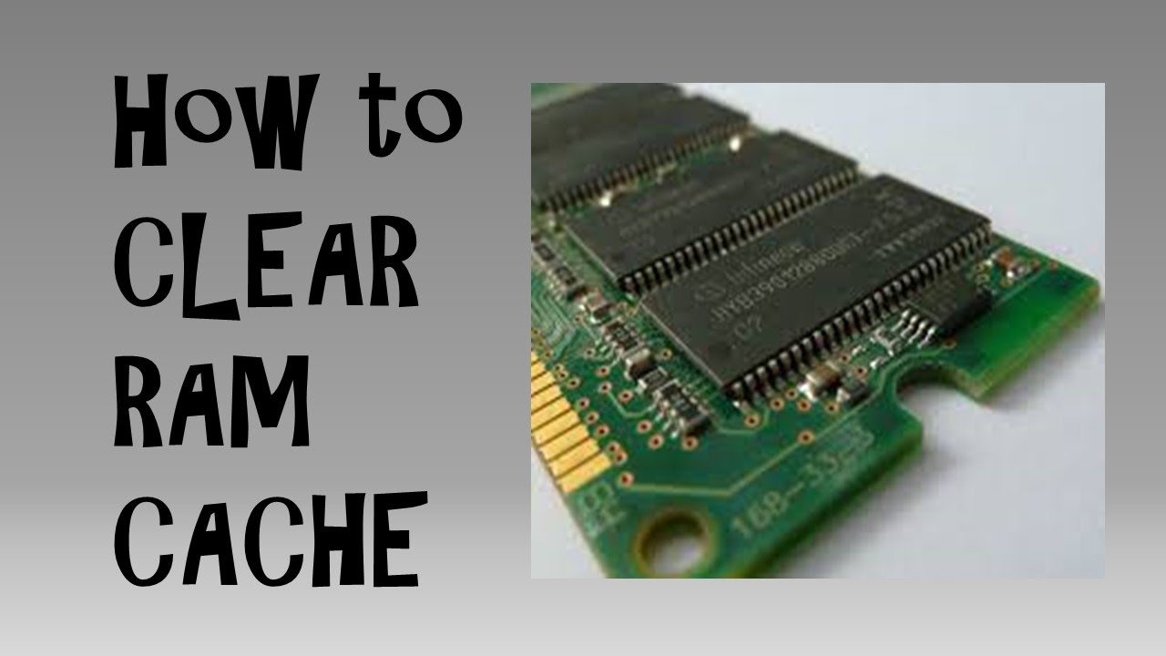 How to clear ram cache on windows 10