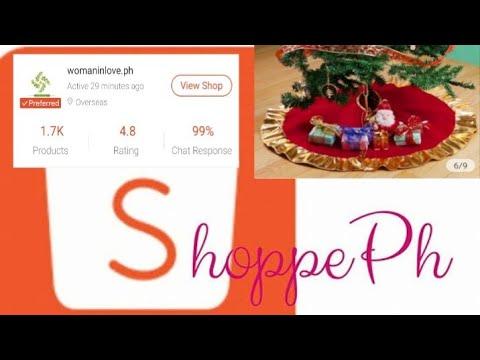 Shopee - CHRISTMAS TREE DECORATIONS CHRISTMAS TREE APRON TREE SKIRT HOME DECOR