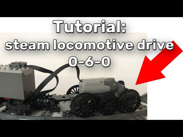 Lego train moc build tutorial - steam locomotive drive 0-6-0