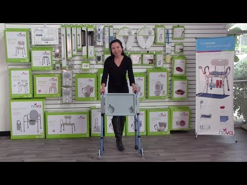 436T Tray For Folding Walker - Installation & Features