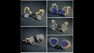 Designer gold stud earrings || heart shape|| lifestyle