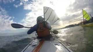 Kayak Sailing with Falcon Sails - Lake Erie South Bass Island. Thumbnail