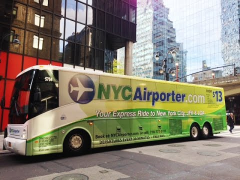 NYC Airporter Express Bus to and from JFK & LaGuardia Airports - Unravel Travel TV