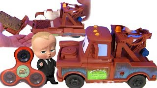 Disney Pixar Cars 3 Видео для детей #Тачки 3! Босс Молокосос # Познаватель! Спиннер