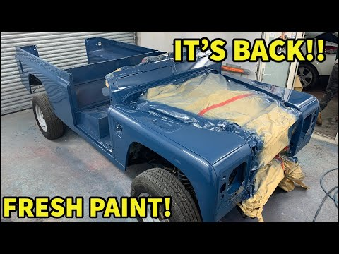 IT'S BACK & BETTER THAN EVER! LAND ROVER DEFENDER CLASSIC SOFT TOP BUILD PART 3