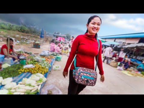 Cambodian Girl shows me HER VILLAGE MARKET