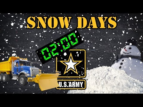 Snow days in the Army
