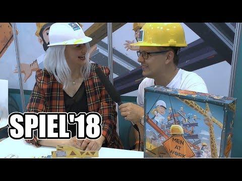 SPIEL'18: Men at Work (Pretzel Games) mit Rita Modl - Top Spiel der Messe?