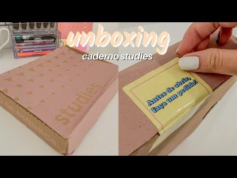 UNBOXING   Caderno Studies Pro ✨