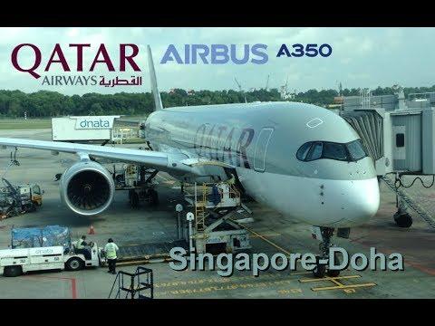 Qatar Airways Airbus A350 Singapore-Doha QR943 Economy Class