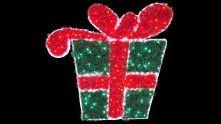 rope light motifs led tinsel christmas present 1m