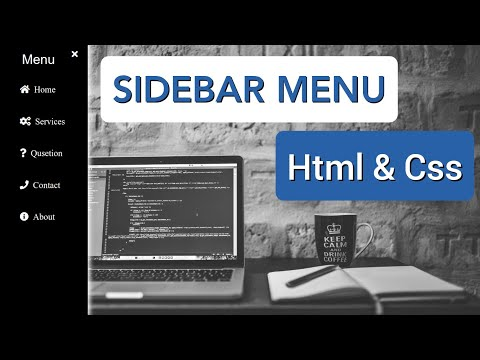 How To Make Sidebar Navigation Menu With Animation Using Html And Css / Html Css Tutorial