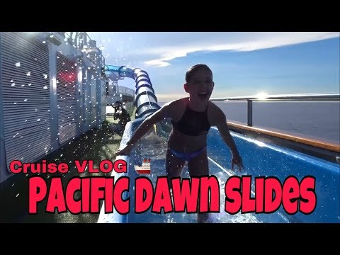 Cruise Vlog - NEVER VLOG AGAIN........Review of the Pacific DAWN Waterslides on P and O Cruise Ship