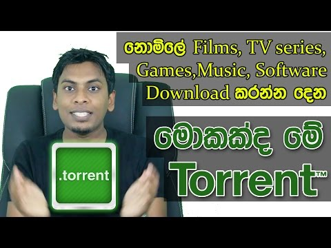 සිංහල Geek Show - What is Torrent & How it Works Explain in Sinhala
