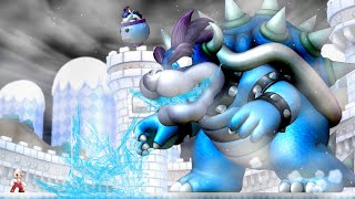 New Super Mario Bros U - Ice Bowser Boss Battle