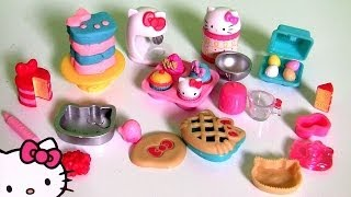 Play Doh Hello Kitty XOXO Baking Fun Set Donuts Patisserie  キャラクター練り切り ハローキティ  Kitchen Baking Toy thumbnail