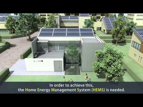 A few homes built with solar green renewable energies (English captions)