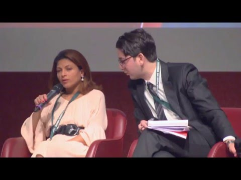 Tom Gross interviews Raif Badawi's wife Ensaf Haidar at the Geneva Summit 2016