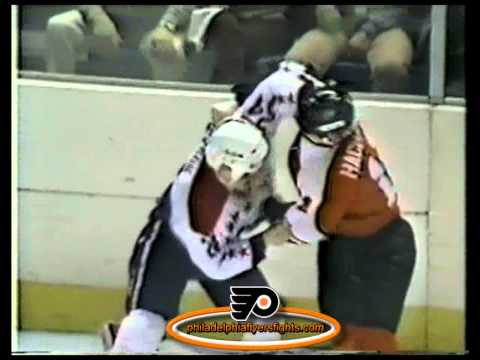 Apr 4, 1984 Len Hachborn vs Bryan Erickson Philadelphia Flyers vs Washington Capitals