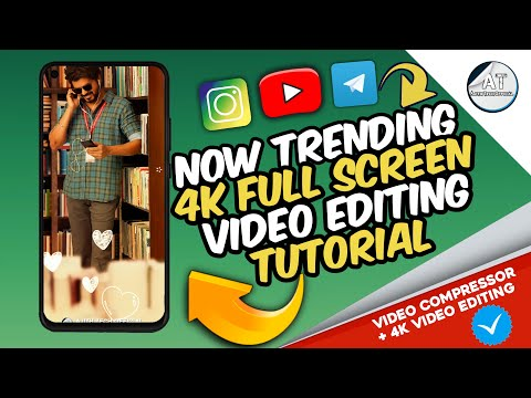 Trending 🔥 How To Edit 4k Full Screen Video ! 😯 #compressvideo | Full Screen Video Editing