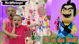 Hello Neighbor in Real Life Touches Our Elves!!! Elf on the Shelf toy Scavenger Hunt!
