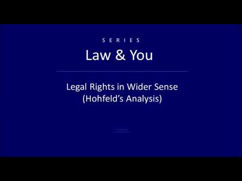Legal right in wider sense ( Hohfeld's analysis)