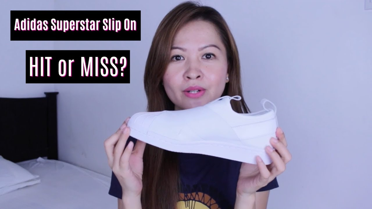b0f9b72a9f Adidas Superstar Slip On - First Impression   Review (Taglish) - YouTube