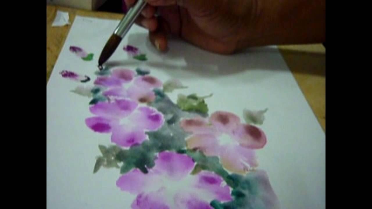 Cara Mudah Menggambar Bunga Youtube