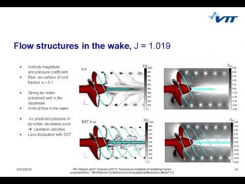 Numerical simulation of cavitating marine propeller flows