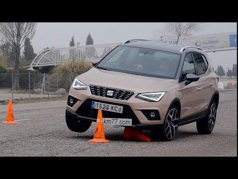 SEAT Arona 2018 - Maniobra de esquiva (moose test) y eslalon   km77.com