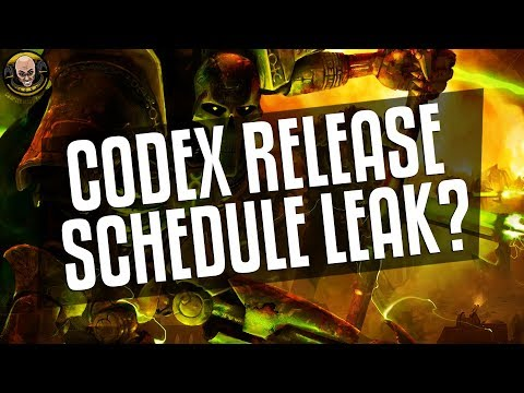 Codex Release Schedule Leak?