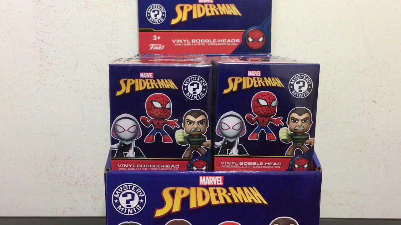Vinyl Collectible Spider-Man Series Mini Action Figure Funko Mystery Mini