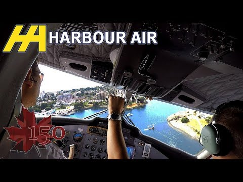 Harbour Air Twin Otter seaplane flight to Victoria BC