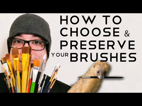 The BEST Brushes For Miniature Painting And How To Preserve Them - How To Choose And Clean A Brush !