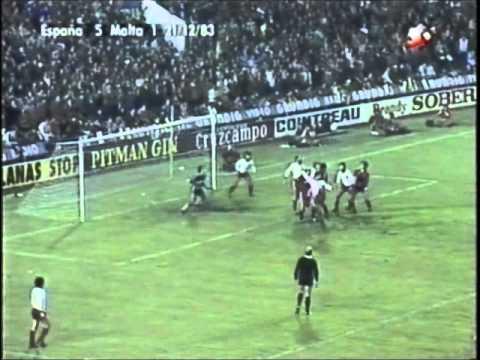 España 12-1 Malta (1983). Narración original TVE.