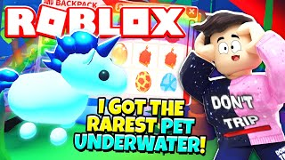 How To Get The Rarest Pet Underwater In Adopt Me New Adopt Me Ocean Update Roblox Youtube